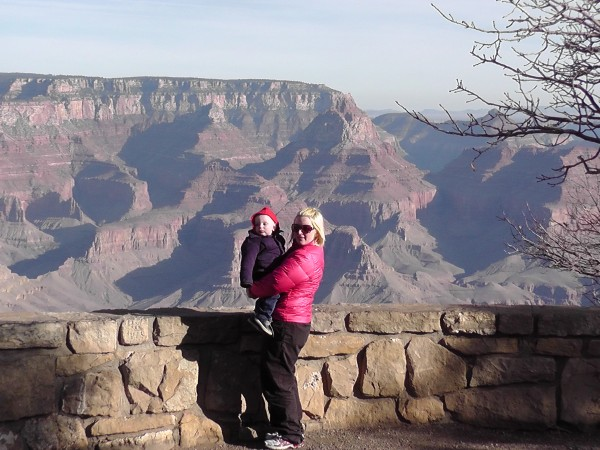 Bethaney and Reuben at the Grand Canyon