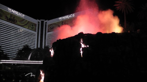 Volcano Erupting at The Mirage, Las Vegas