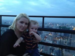 Banyan Tree Hotel Sky Bar Bangkok with kids