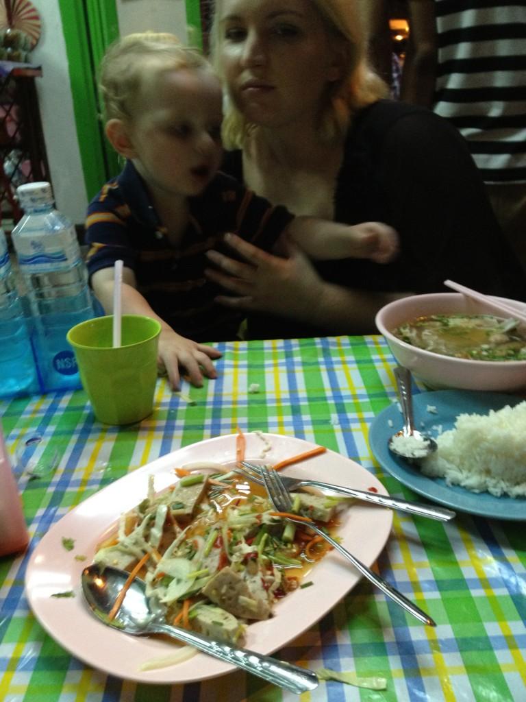 Eating out at a Bangkok street restaurant