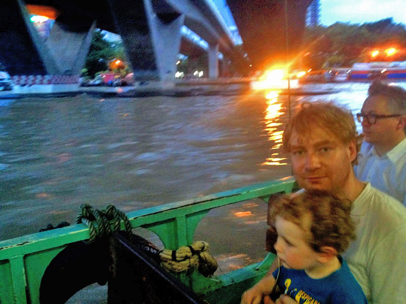 Lee-&-Reuben,-Crossing-the-Chao-Phraya-Rive,-Bangkok