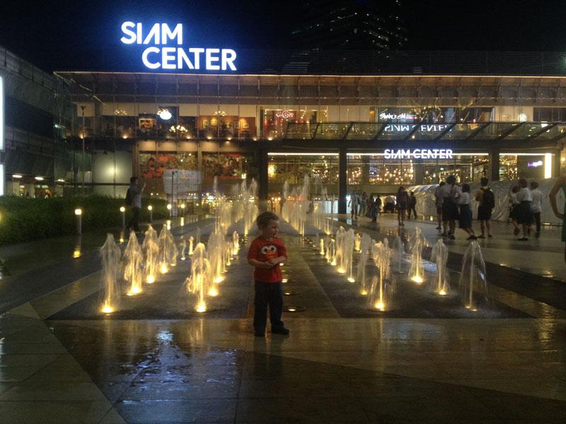 Reuben-at-Siam-Center,-Bangkok-with-kids