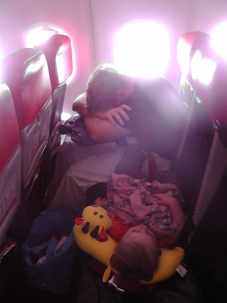 toddler sleep on plane