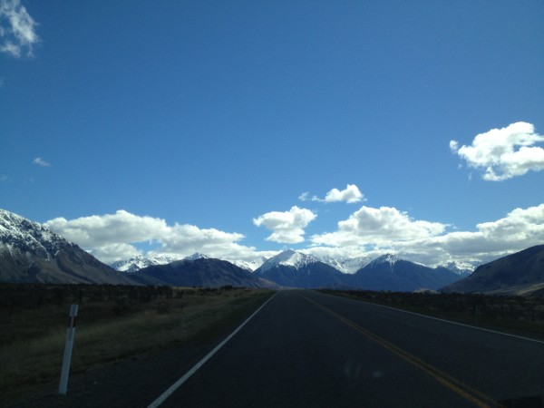 Southern Alps, Drive from Christchurch to Greymouth, New Zealand