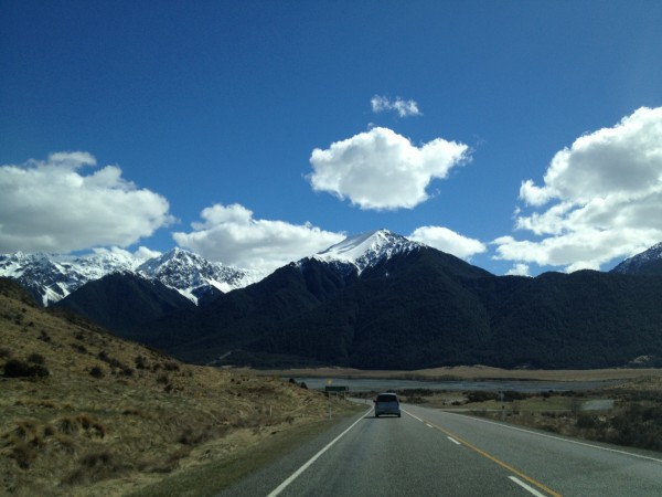 Christchurch to Greymouth Drive, Southern Alps, New Zealand