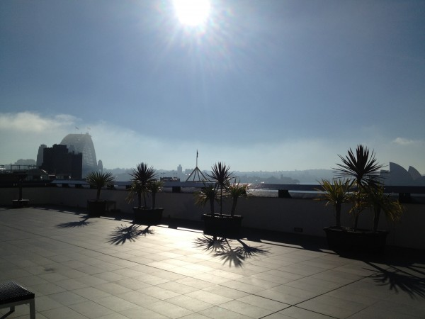 The fabulous roof top terrace - Check out that view!