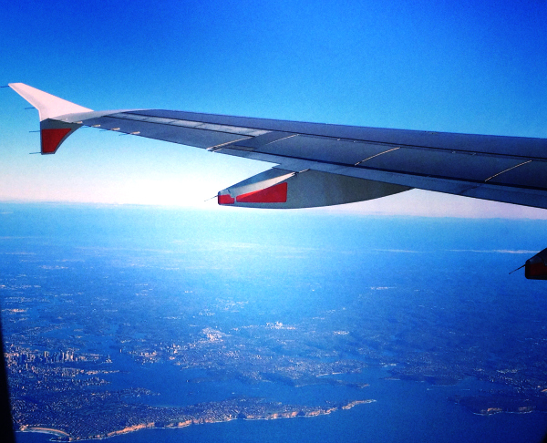 Jetstar flight over Sydney
