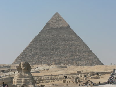 Pyramids at Giza and Sphinx, Cairo, Egypt