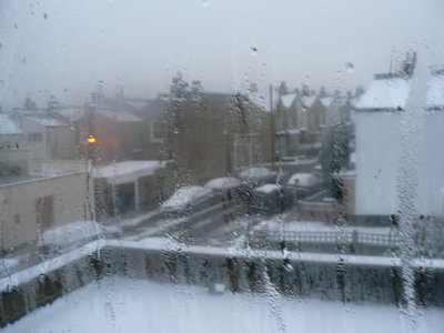 Snowy London Through the Window