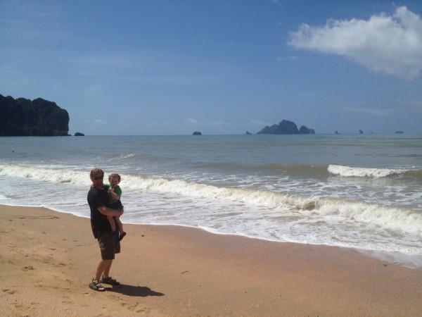A Sunny Day on Ao Nang Beach, Krabi, Thailand