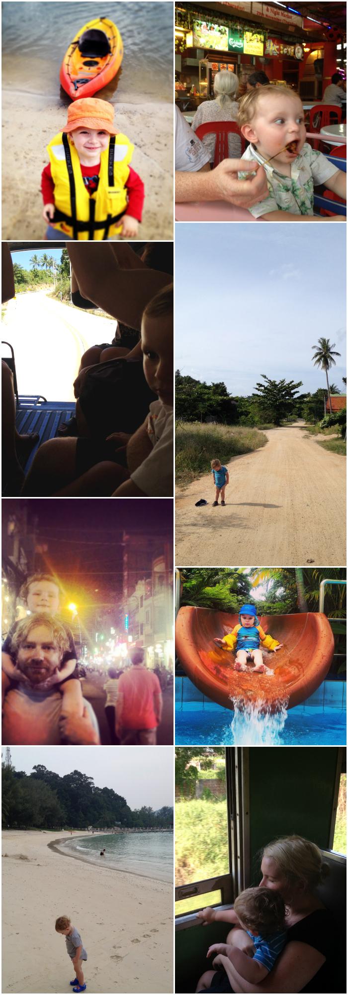 Adventure Toddler Travel Collage