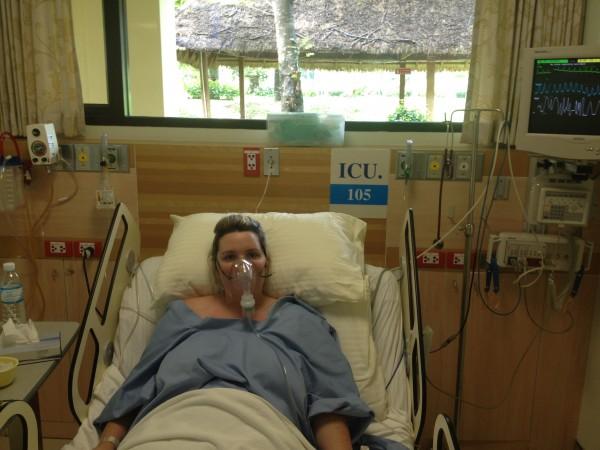 Bethaney in ICU, Hospital in Koh Samui, Thailand