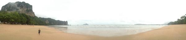 Rainy Day Panorama of Ao Nang Beach, Krabi, Thailand in the Wet Season 2