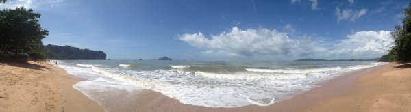 Panorama of Ao Nang Beach, Krabi, Thailand in the Wet Season 3