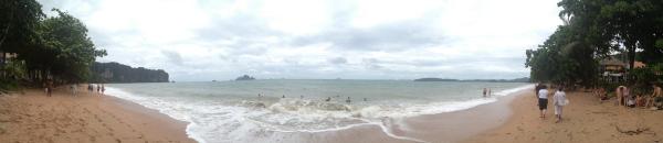 Panorama of Ao Nang Beach, Krabi, Thailand in the Wet Season
