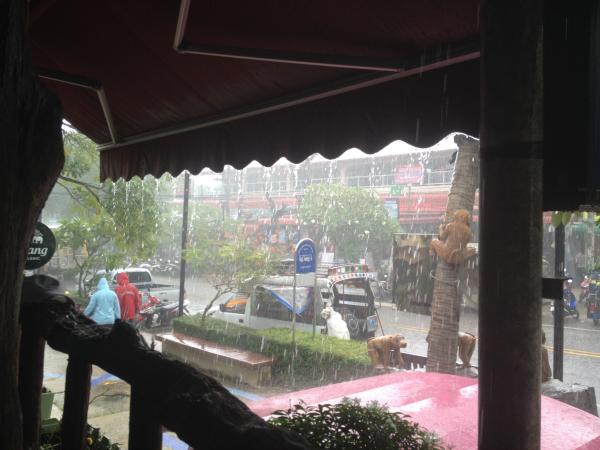 Rain Pouring Down, Ao Nang, Krabi, Thailand