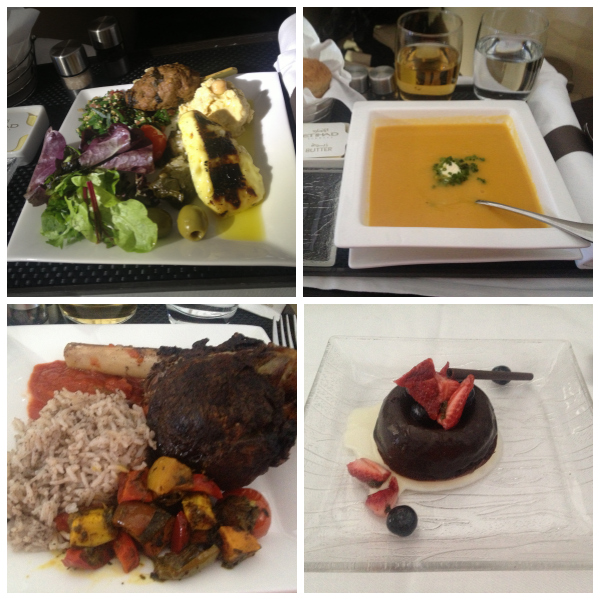 Business Class Food on Etihad Collage