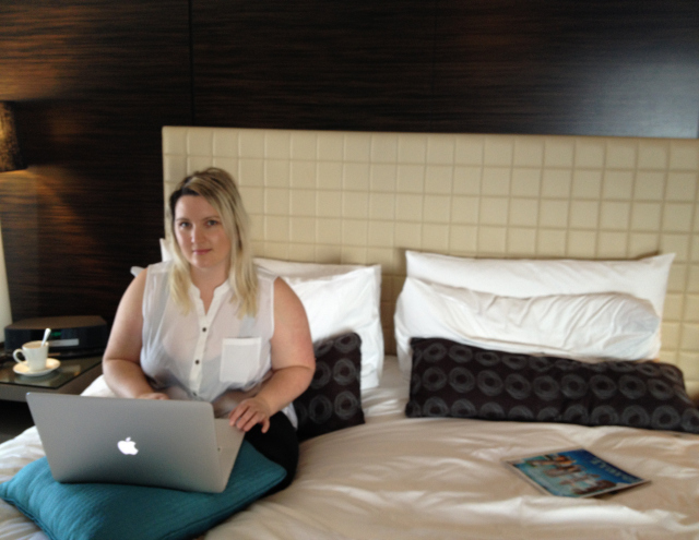 Bethaney Laptop Working Four Seasons Sydney