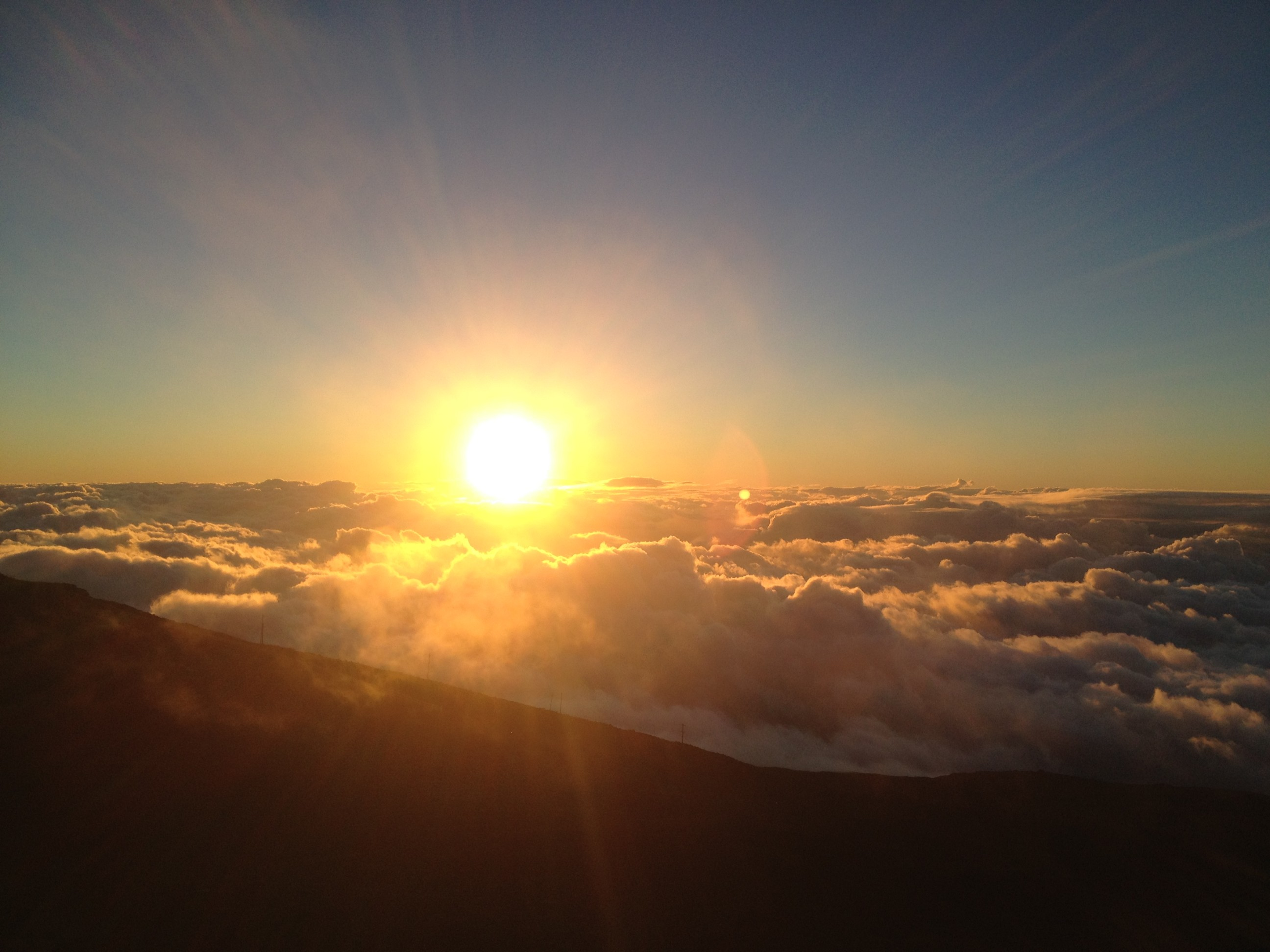 Sunset at Haleakala, Maui, Hawaii