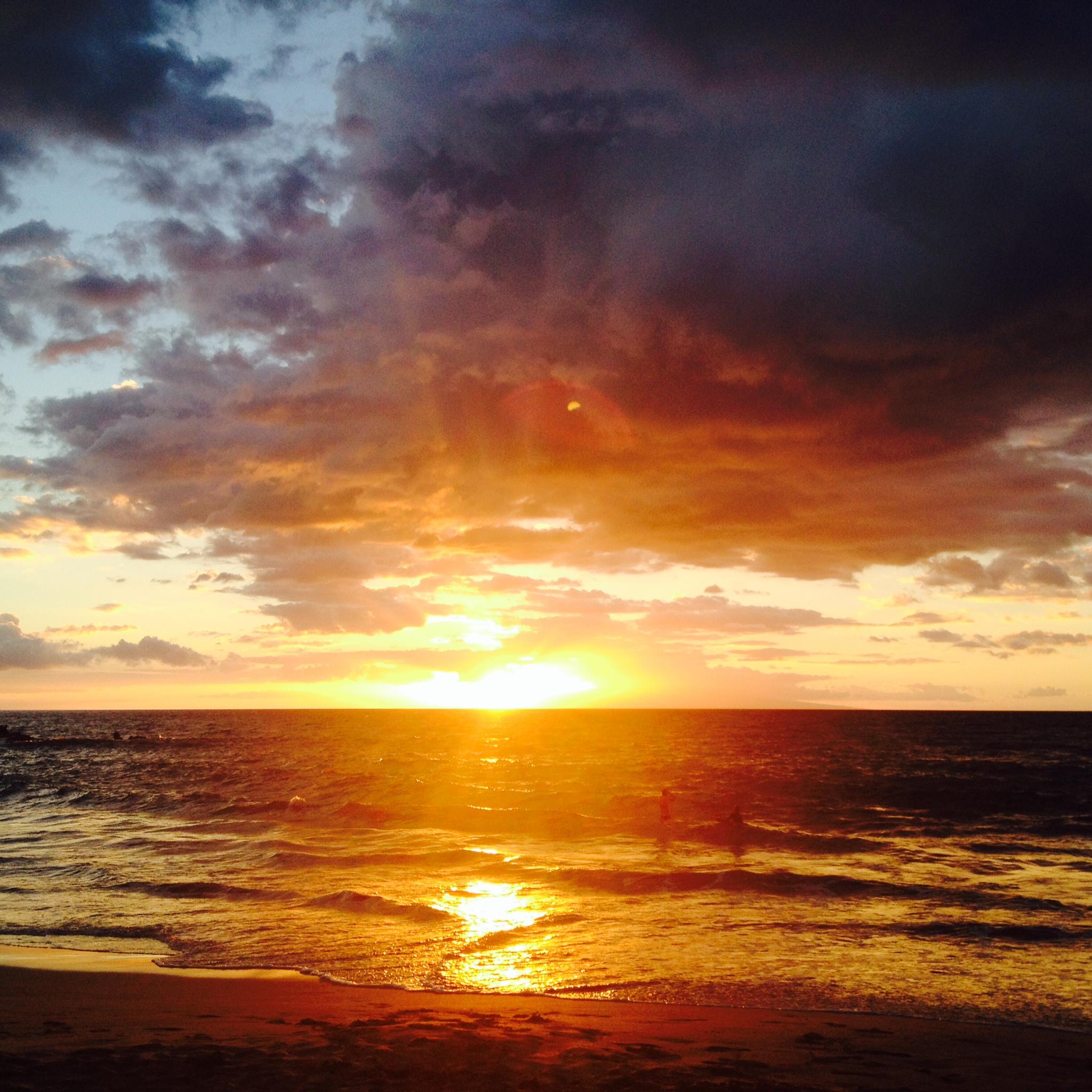Susnet at Wailea Beach, Maui, Hawaii