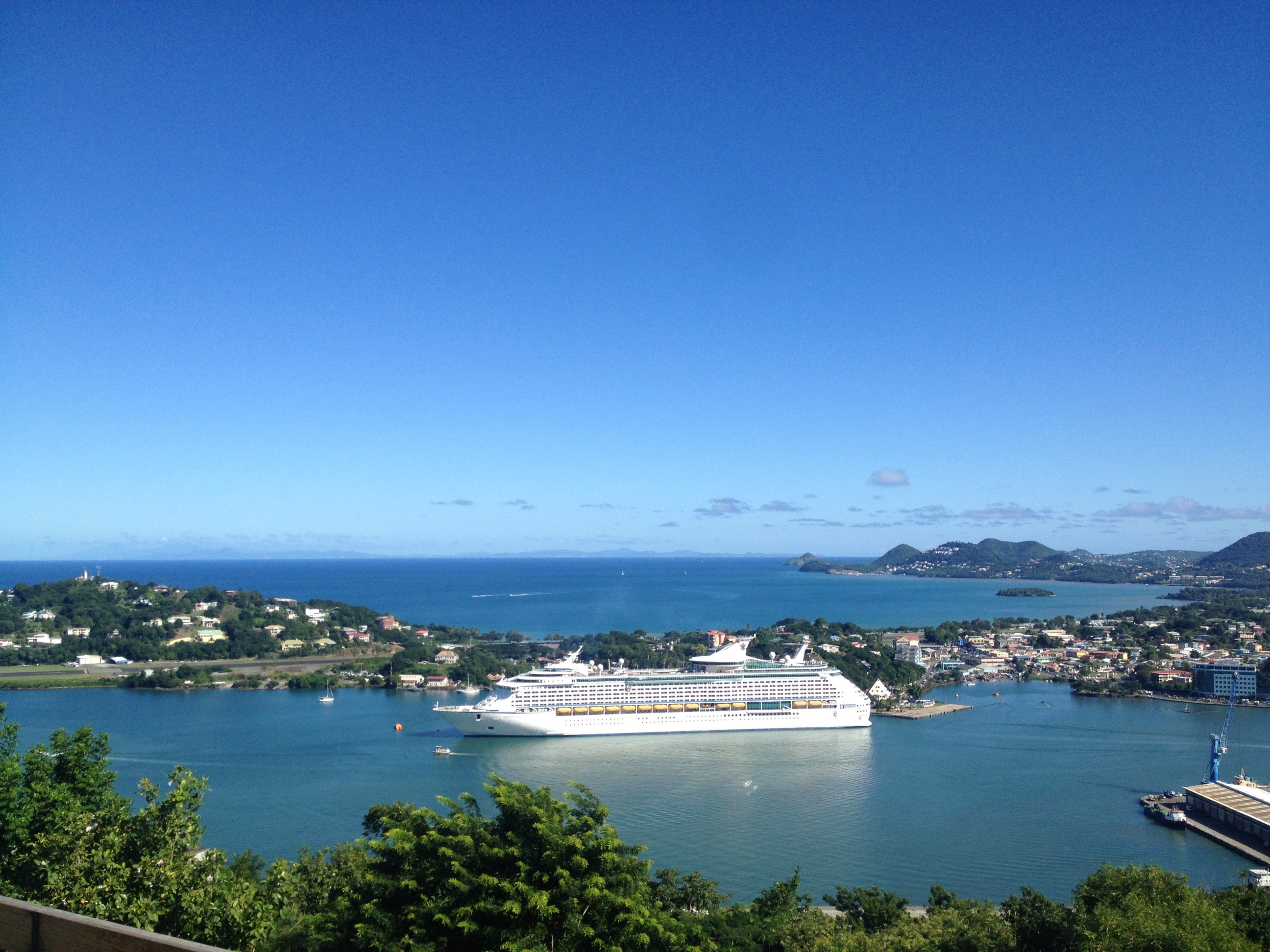 The Adventure of the Seas in Port in St Lucia