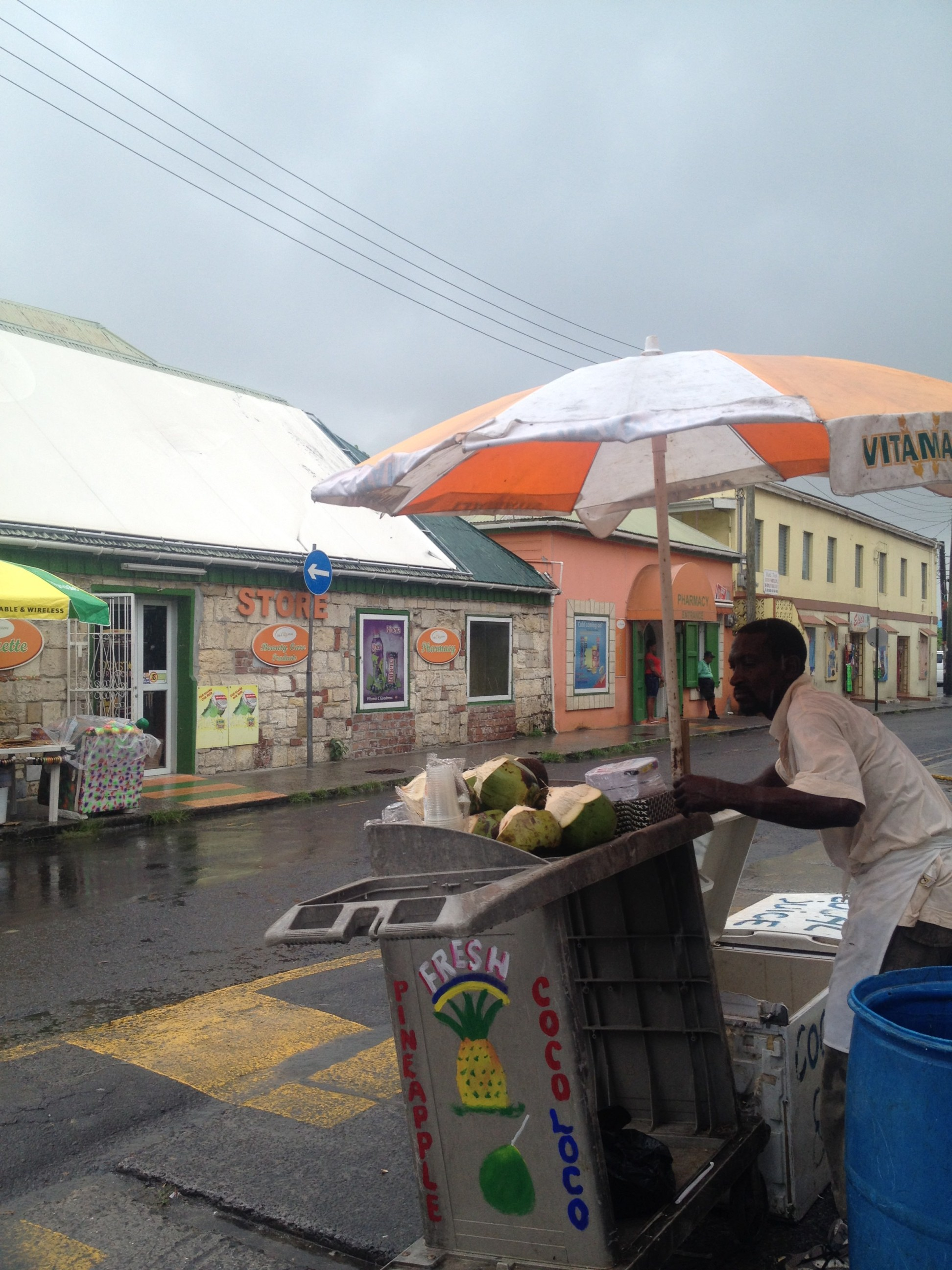 A Rainy Day in Port in Antigua