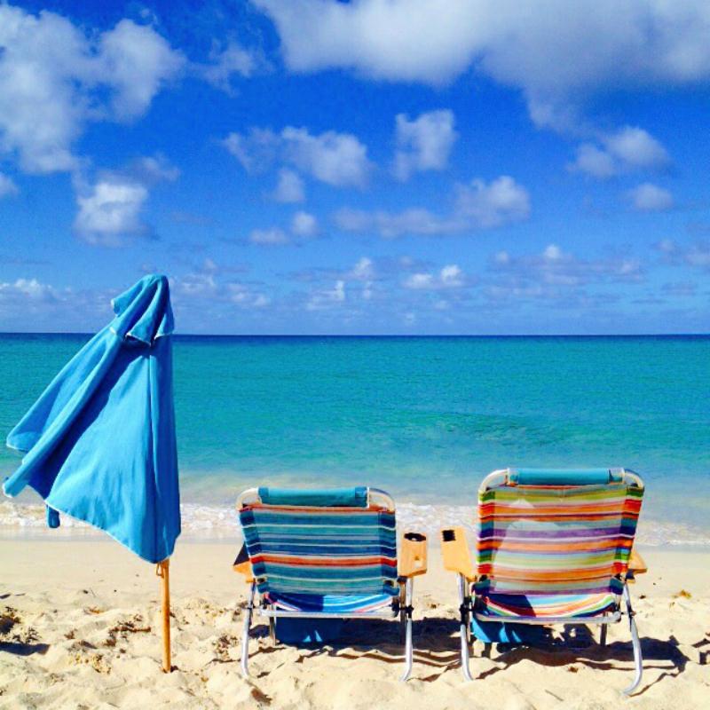 Beach Chairs, St Croix, US Virgin Islands, Caribbean Cruise