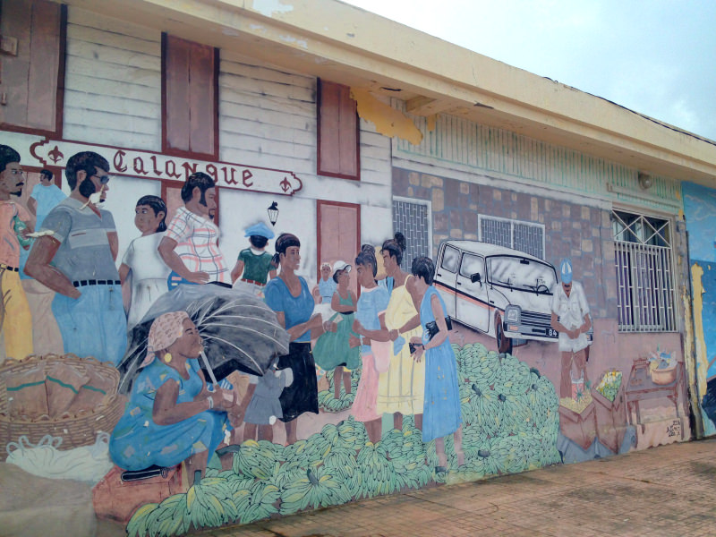 Colourful Mural, Marigot, St Martin, Caribbean Cruise