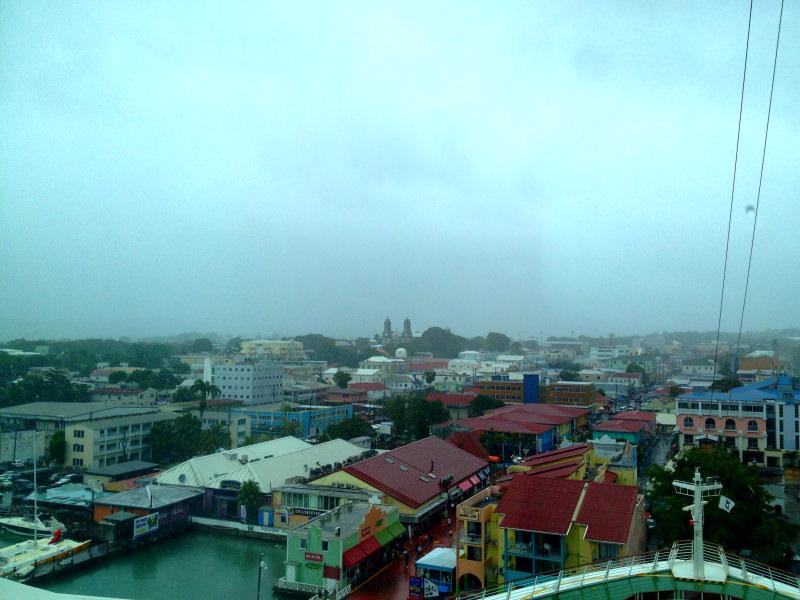 Rain in St Johns, Antigua, Caribbean Cruise