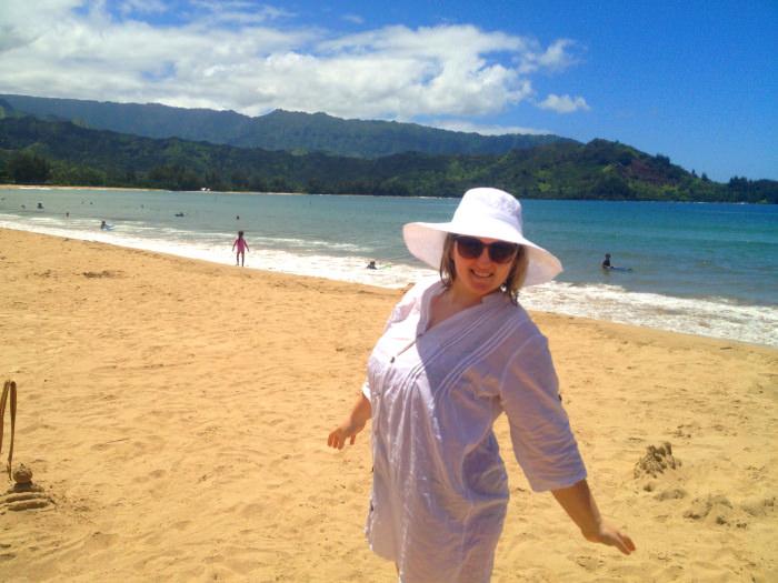 On the Beach, Hanalei Bay, Kauai
