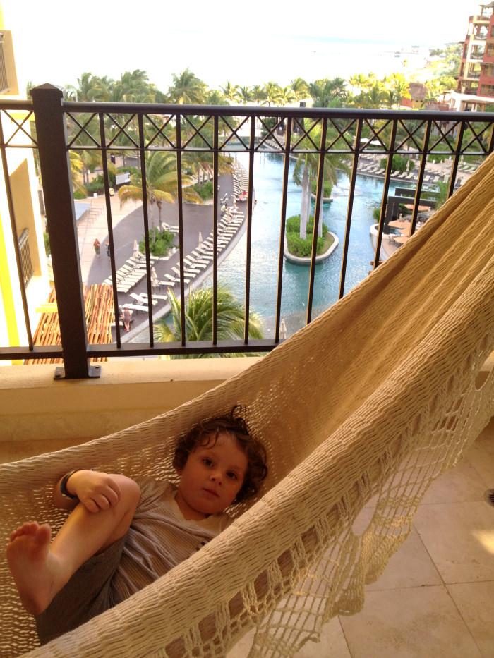 Reuben Relaxing in Hammock, Cancun, Mexico