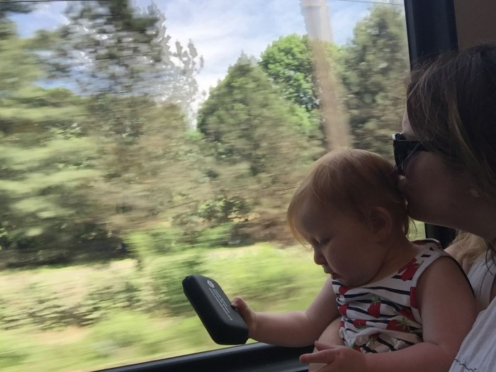 Bethaney and Hazel on the Train in Italy