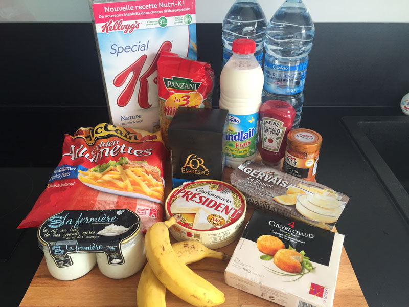 This is what 25 Euros of Groceries Looks Like in Nice, France
