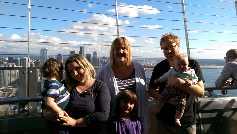 From-the-Space-Needle-in-Seattle, Things to Do in Seattle with Kids