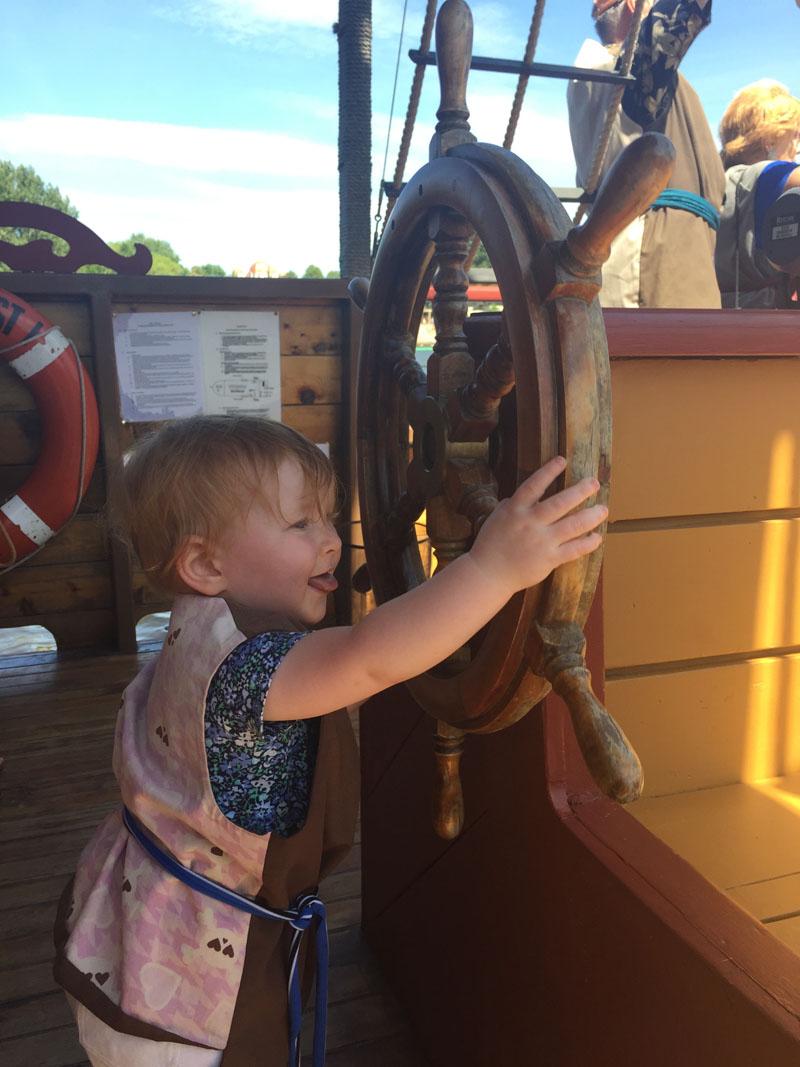 Hazel Sailing the Grey Ghost, Ottawa Pirate Adventures