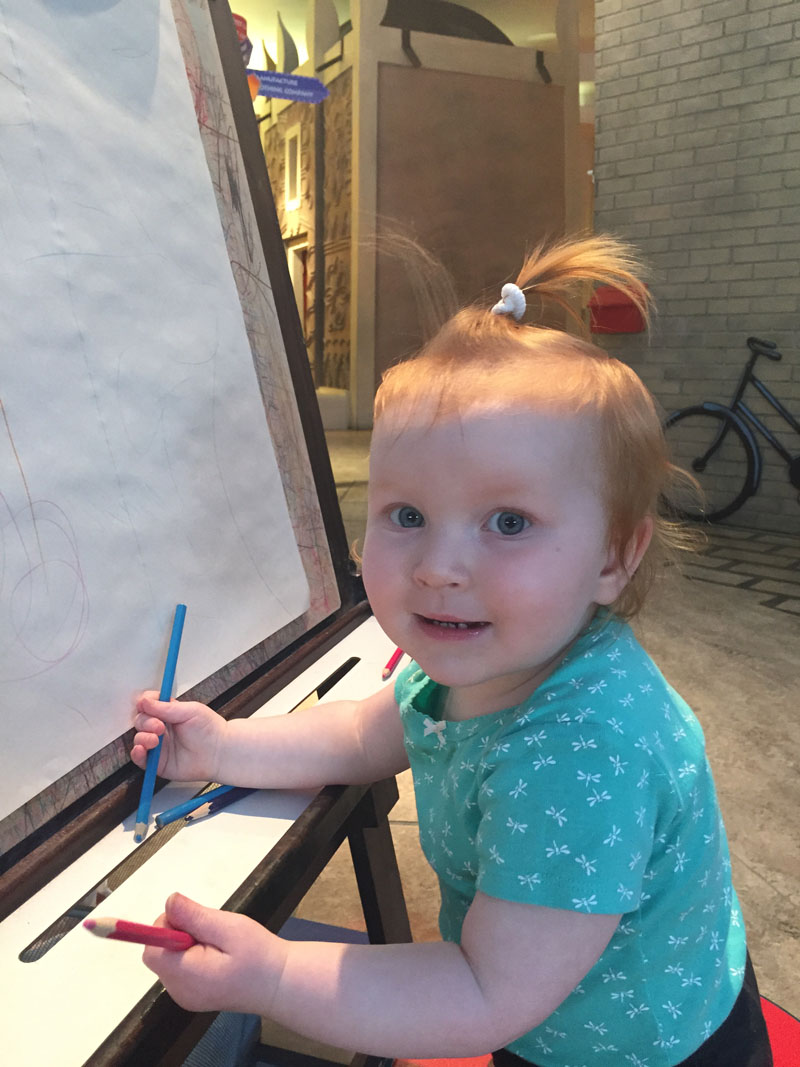 Hazel Drawing at Ottawa Childrens Museum
