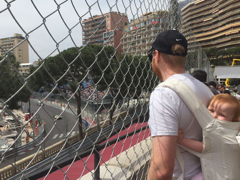 Hazel-in-Ergo,-Watching-ePrix,-Monaco
