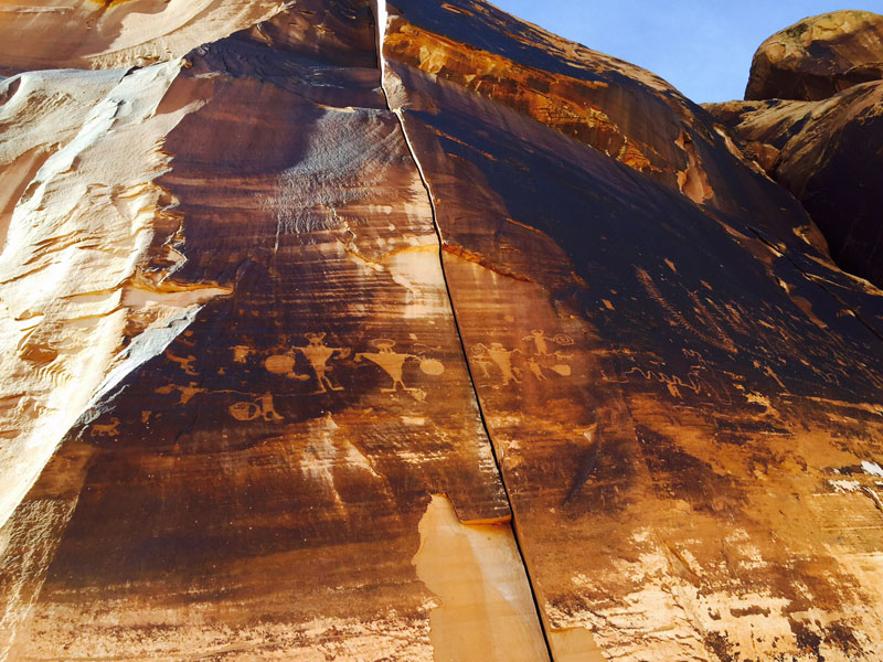 Native American Petroglyphs Near Moab