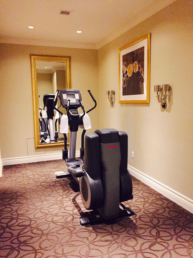 Private Gym, Siena Suite, The Palazzo, 20 dollar trick las vegas: