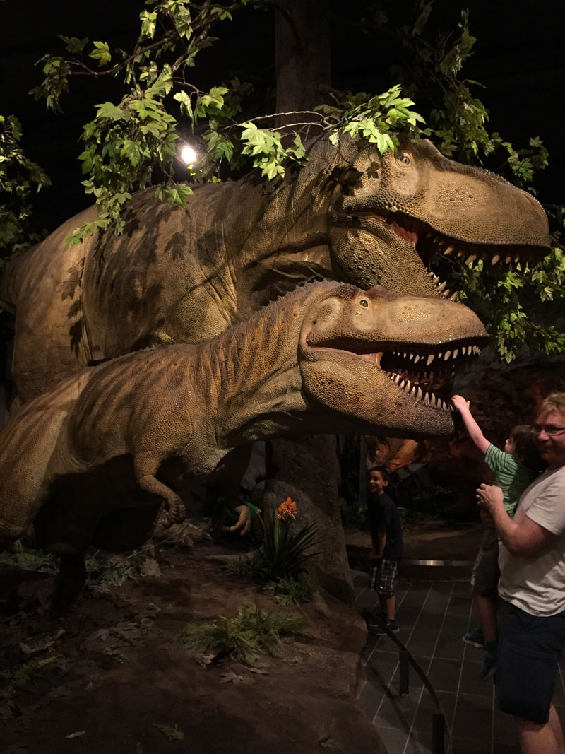 Reuben & Lee with a Dinosaur, Canadian Museum of Nature, Ottawa