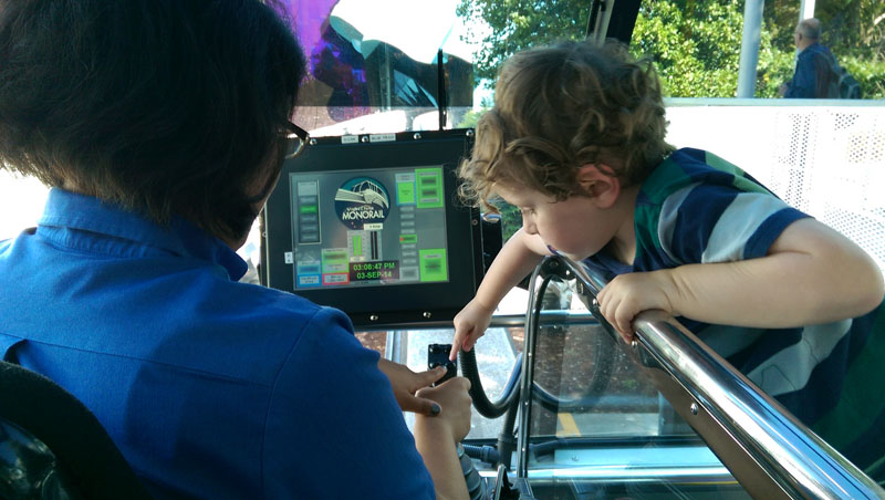 Reuben-Riding-the-Monorail-Seattle, seattle kids activities