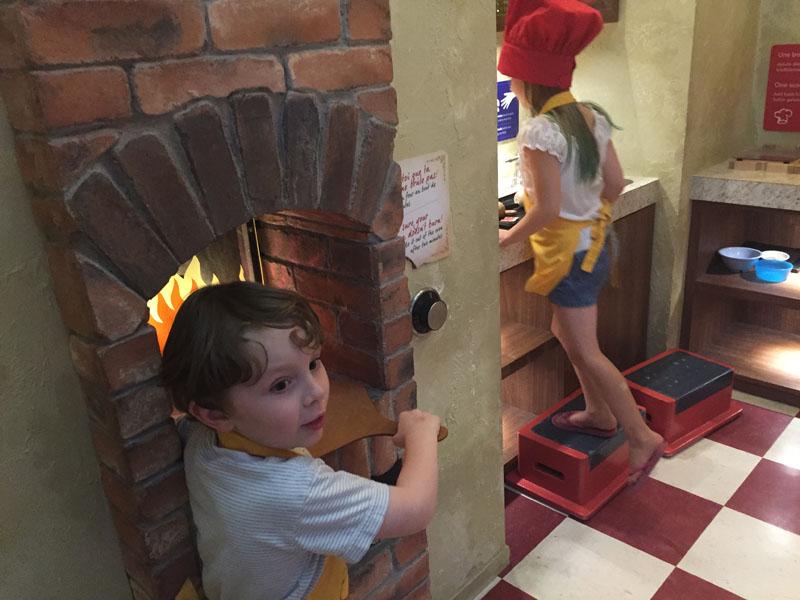 "Reuben Making ""Pizza"" at Ottawa Childrens Museum"