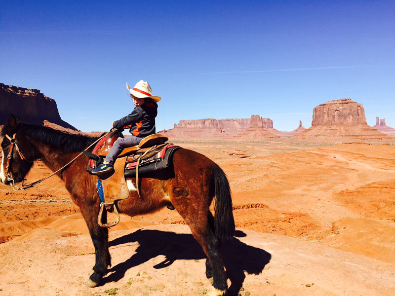 Reuben on Horse, Monument Valley