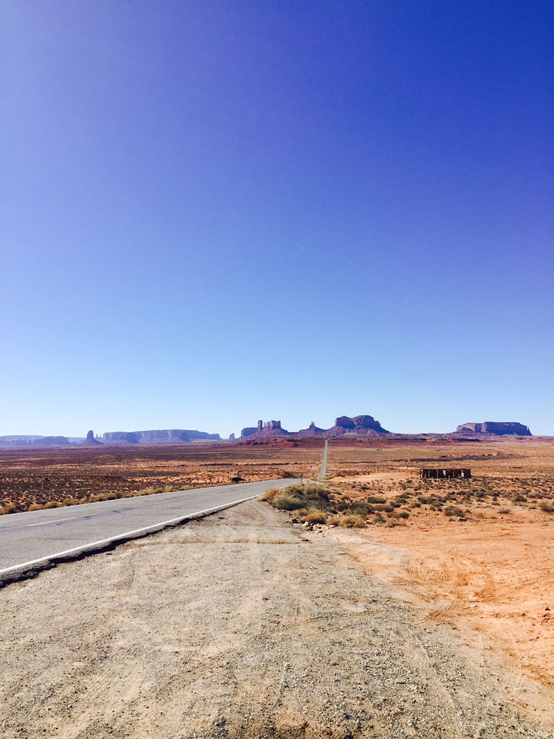 Road Leading to Monument Valley, Vertical