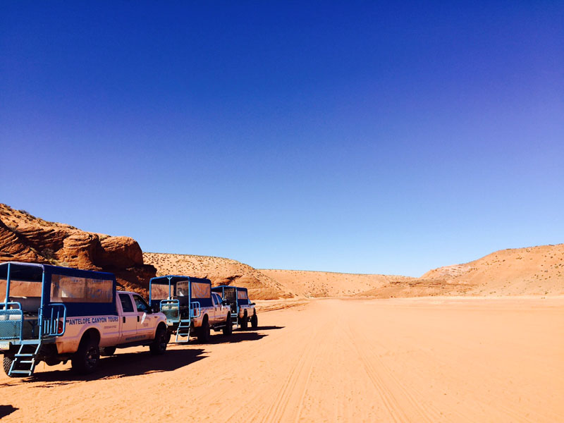 Tour Trucks, Antelope Canyon