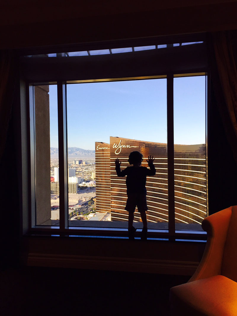 View of The Wynn from, Siena Suite, The Palazzo, Las Vegas