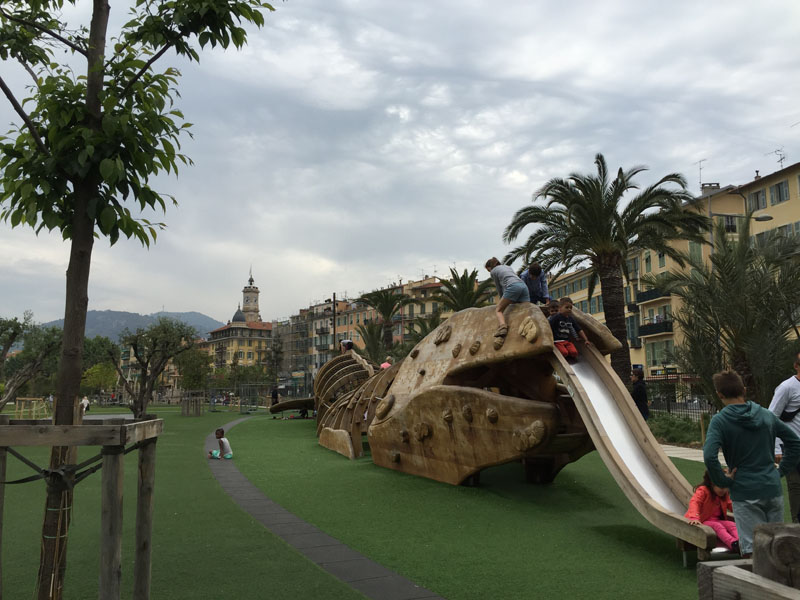 Whale, Playground at Promenade du Paillon, Nice, France