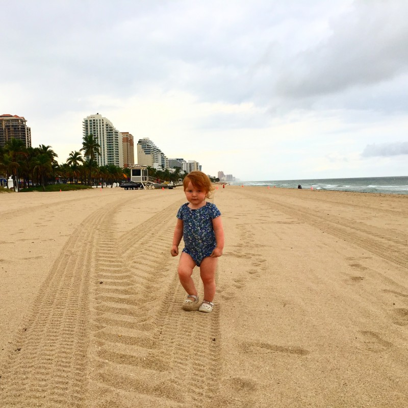 Hazel on Beach in Fort Lauderdale, Florida