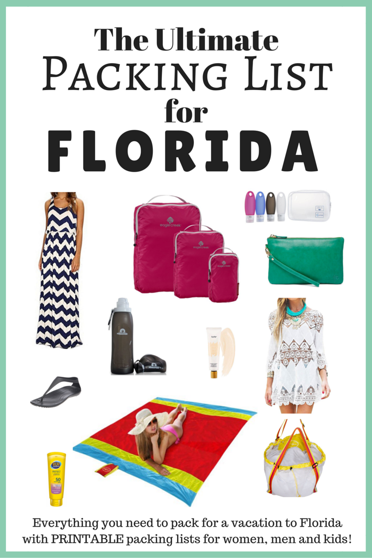 Packing List for Florida