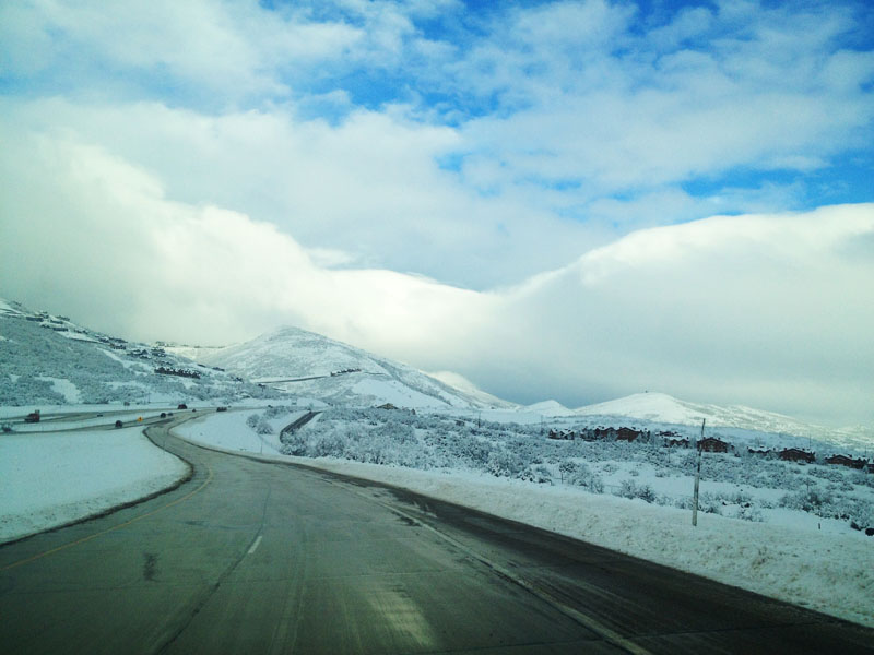 Driving to Park City from Fox Bay, Utah
